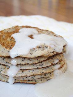 The Oatmeal Artist: Lemon Poppy Seed Oat Pancakes for One
