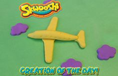 Skwooshi Creation of the Day #plane #art #mold #sculpture #sculpt #play #toys #clouds #skwooshi  Join the fun on Facebook for exclusive giveaways https://www.facebook.com/Skwooshi
