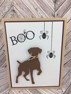 Halloween Greetings, Halloween Cards, Happy Halloween, Black Lab Puppies, Corgi Puppies, Spider Card, Pet Sympathy Cards, Purple Halloween, Pointer Dog