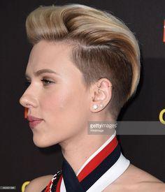 Scarlett Johansson new pixie cut left side view