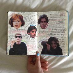 breakfast club journal page ! Bullet Art, Bullet Journal Art, Bullet Journal Ideas Pages, Bullet Journal Inspiration, Journal Pages, Movie Collage, Collage Book, Book Art, Music Journal