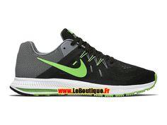Nike Zoom Winflo 2 - Chaussure de Running Nike Pas Cher Pour Homme Noir/Bleu-gris/Blanc/Vert impact 807276-003
