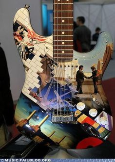 all the pink floyd albums on a guitar