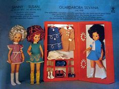 """PAR AMOUR DES POUPEES :: LES """"3S AMERICAINES"""" : SYLVANA, SANNY et SUSAN, 42CM, 1972, FURGA"""