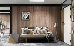 Scandinavisch interieur met hout