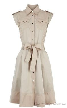 Платье сафари детали