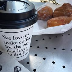 Coffee brought to you today from @vicmarket where #americandoughnutkitchen has been cooking #delicious doughnuts since 1950! #coffee #coffeeculture #vicmarket #visitmelbourne #visitvictoria yum #doughnuts #saturdaymorning #restaurantaustralia