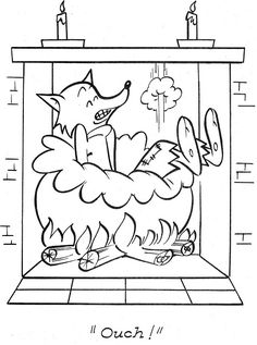 Fable Fontaine, Coloring Pages For Kids, Coloring Books, Fairy Tale Projects, Three Little Pigs Story, Fairy Tale Activities, Quiet Book Templates, Kindergarten Books, Humpty Dumpty