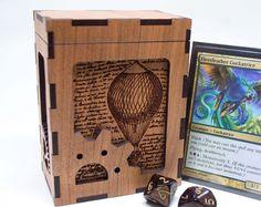 Magic the Gathering Deck Box | Steampunk Card Deck Box | Custom MTG Card Box | Personalized Trading Card Game Box | Unique Engraved TCG Box