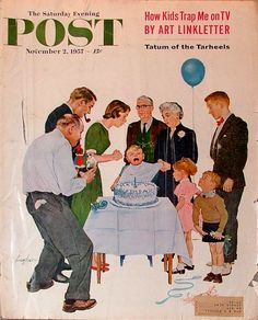First Birthday by George Hughes, November 2, 1957, The Saturday Evening Post.