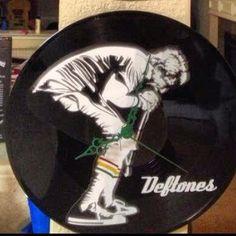 deftones record vinyl clock