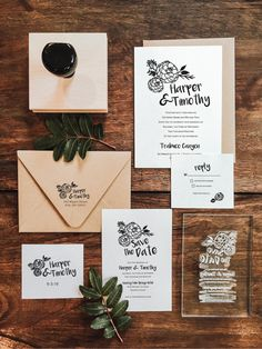 DIY Wedding Invitation Suite Stamp Set - The Stamp Foundry