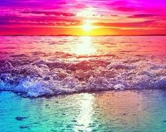 Love the rainbow water and sunset!!!