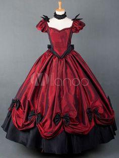 ビンテージ赤半袖ロリータ ドレス - Milanoo.jp