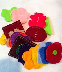 Felt button snake Large set