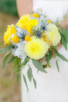 Gray and yellow work beautifully together! A neutral with a pop of color <3
