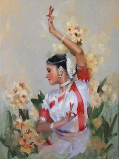 Indian painting by Joyce Birkenstock