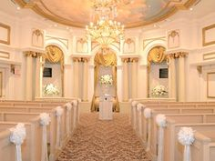 Chapelle du Paradis at the Paris Hotel, Las Vegas - a pretty wedding chapel in the French style.