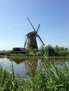 Windmills Windmills, Watering Can, Holland, Places, Wind Mills, Windmill, Netherlands, The Netherlands, Lugares