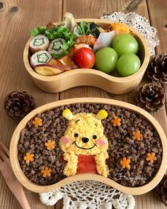 Bento Kids, Bento Box Lunch, Food Art For Kids, Cute Bento, Cute Snacks, Vegan Meal Prep, Vegan Thanksgiving, Cafe Food, Food Humor