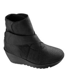 Look at this #zulilyfind! Black Mimi Leather Ankle Boot #zulilyfinds