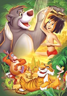 Walt Disney Prints | Walt Disney Posters - The Jungle Book - Walt Disney Characters Photo ...