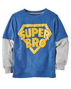 Toddler Boy Layered-Look Super Bro Graphic Tee | Carters.com