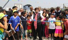 Alcaldesa de Lima inauguró losa deportiva en San Juan de Lurigancho