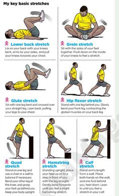 Pre-running stretches