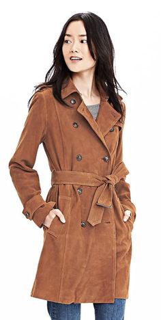 Spring 2016- Suede trench