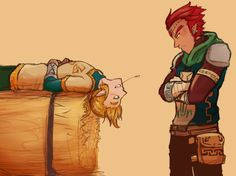 """""""Napping again?"""" I crave a Zelda game where Link, Ganondorf, and Zelda are all buds at the start so bad T^T"""