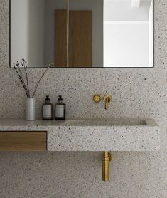 The Stable House - terrazzo walls and sink Bad Inspiration, Bathroom Inspiration, Bathroom Ideas, Bathroom Organization, Bathroom Storage, Bathroom Showers, Shower Rooms, Bathroom Hacks, Bathroom Trends