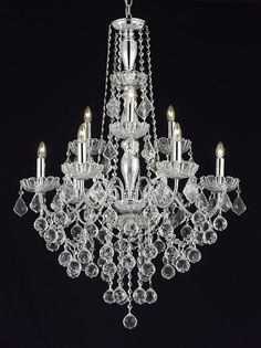 J10-B6/3/843/6+3 Gallery Chandeliers ELEGANT 9 LIGHT CRYSTAL CHANDELIER PENDANT LIGHTING FIXTURE LIGHT LAMP WITH CRYSTAL BALLS!