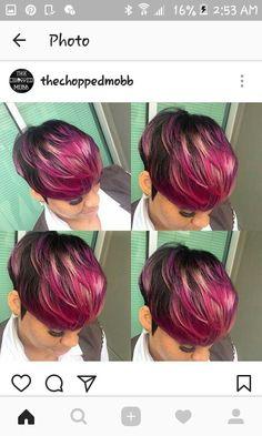 67 Short Bob Hairstyles 2019 for Women - Hairstyles Trends Short Bob Hairstyles, Weave Hairstyles, Pretty Hairstyles, Girl Hairstyles, Black Hairstyles, Short Hair Cuts, Short Hair Styles, Beautiful Hair Color, Hair Affair