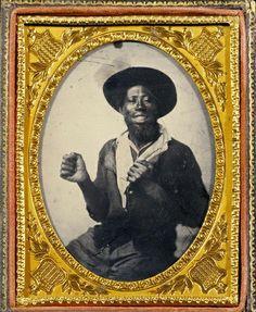(c. 1860) Smiling man.
