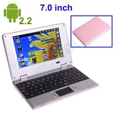 """Girls PINK LAPTOP 7"""" Netbook Notebook TABLET ANDROID with Installed WIFI Tons Apps and Games 3 USB Ports 4gb HD 256mb Ram (INCLUDES: Velvet Pouch Case, Charger, Mini Optical Mouse) price :$99.94"""