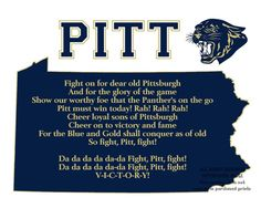 Pitt Panthers Pennsylvania State Map by PatriotIslandDesigns, $19.50