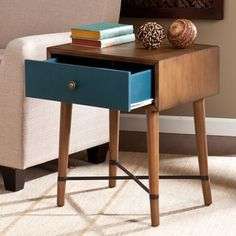 Harper Blvd Niles Blue Accent Table - Free Shipping Today - Overstock.com - 16609531 - Mobile