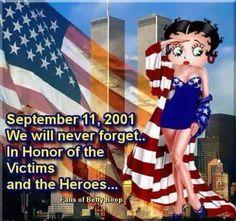 Betty Boop Patriot Day 9/11