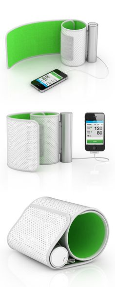 Smart Blood Pressure Monitor // Just Wrap The Monitor Around Your Arm And  Plug It Into Your IOs Device: The Withings App Will Provide Instant  Visibility Of ...