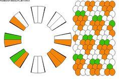 K4530 - friendship-bracelets.net Strings: 16 Colors: 3 - it reminds me of carrots mmm