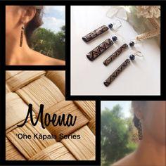 Wood Earring I call this Moena (mat) from my ʻOhe Kapala Wood Earring Series…