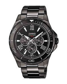 Ρολόι Casio Collection Multifunction MTD-1075BK-1A1VEF Black Stainless Steel d0f35b7111c