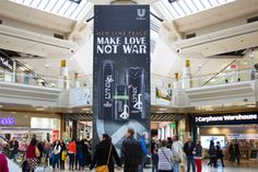 Lynx took over our dominating Panoramic advertising format to promote the Lynx Peace range available! See our gallery for more:   http://limited-space.com/photos/lynx-2/   #OOH #panoramic #malladvertising