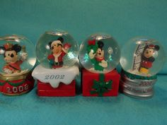 bc8f3f084fbb7 4 JCPenney Disney Mickey Mouse Snow Globes-2002