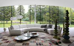 Canapé demi lune et canapé rond - 50 designs spectaculaires et ultra modernes