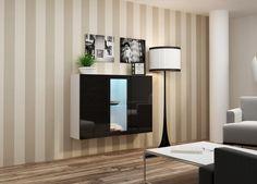 Komody   Komoda Vigo bíločerná lesk   Nábytkománie.cz - nabízíme moderní nábytek za lákavé ceny Ibiza, Buffet, Sideboard, Curtains, Furniture, Home Decor, Products, Home Ideas, White People