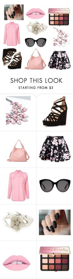 """Cherry Blossom"" by britnellt on Polyvore featuring Charlotte Russe, WithChic, Sies Marjan, Gucci, Shaun Leane and Sephora Collection"