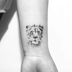 Small lion tattoo for women, simple lion tattoo, wrist tattoos for women, small Lion Head Tattoos, Leo Tattoos, Future Tattoos, Animal Tattoos, Body Art Tattoos, Small Lion Tattoo For Women, Wrist Tattoos For Women, Small Wrist Tattoos, Tattoo Designs For Women