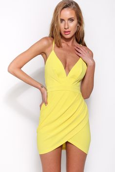 Hold On Me Dress, Yellow, $59 + Free express shipping http://www.hellomollyfashion.com/hold-on-me-dress-yellow.html